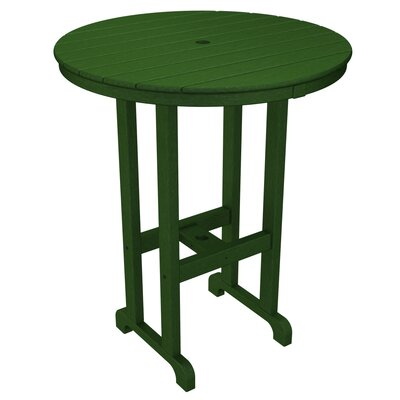 Round Outdoor Bar Table Finish: Hunter Green, Table Size: 36