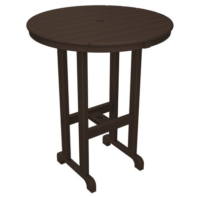 Round Outdoor Bar Table Finish: Mahogany, Table Size: 36