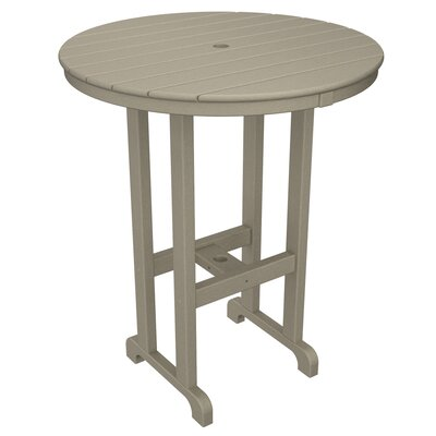Round Outdoor Bar Table Finish: Sand, Table Size: 36