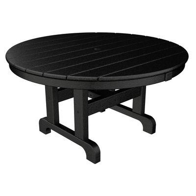 Round Conversation Coffee Table Finish: Black, Table Size: 48