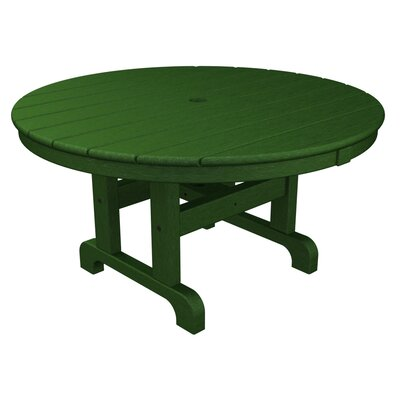 Round Conversation Coffee Table Finish: Green, Table Size: 36