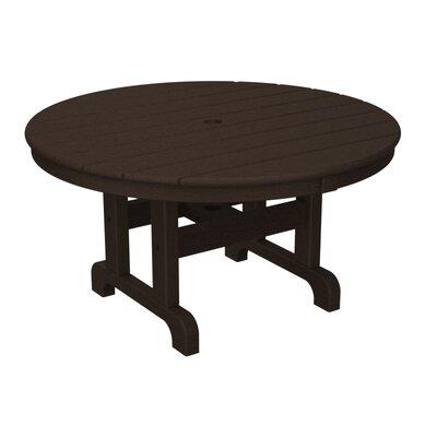 Round Conversation Coffee Table Finish: Mahogany, Table Size: 48
