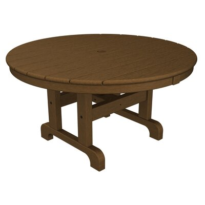 Round Conversation Coffee Table Finish: Teak, Table Size: 48