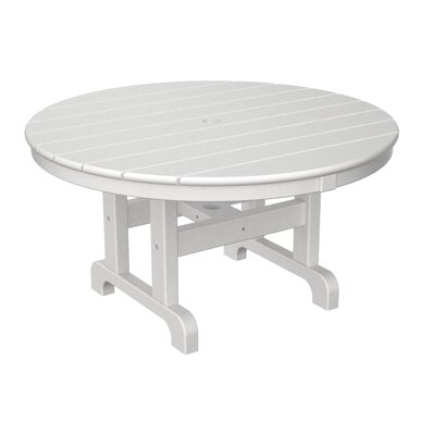 Round Conversation Coffee Table Finish: White, Table Size: 48