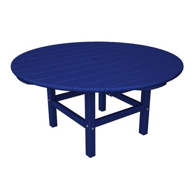 Round Conversation Table Finish: Pacific Blue
