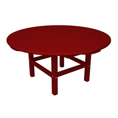 Round Conversation Table Finish: Sunset Red