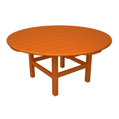 Round Conversation Table Finish: Tangerine