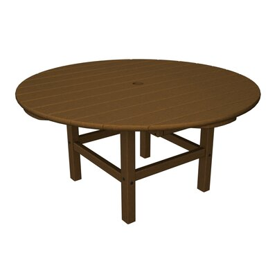 Round Conversation Table Finish: Teak