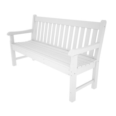 """Polywood Rockford Plastic Garden Bench - Finish: White, Size: 60"""" at Sears.com"""