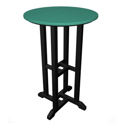 Contempo Bar Table Finish: Black & Aruba