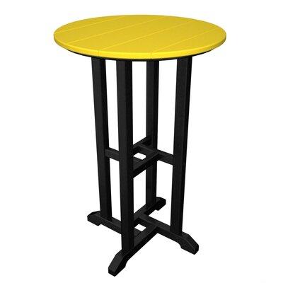 Contempo Bar Table Finish: Black & Lemon