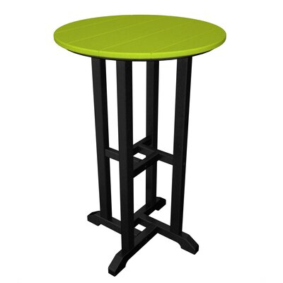 Contempo Bar Table Finish: Black & Lime