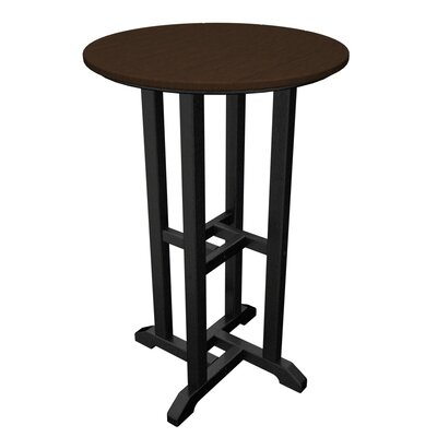 Contempo Bar Table Finish: Black & Mahogany