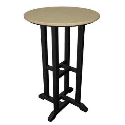 Contempo Bar Table Finish: Black & Sand
