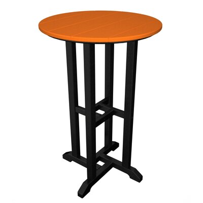 Contempo Dining Table Finish: Black / Tangerine