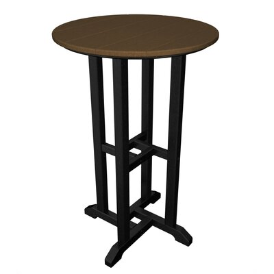 Contempo Bar Table Finish: Black & Teak