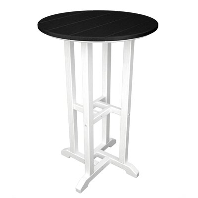 Contempo Bar Table Finish: White & Black