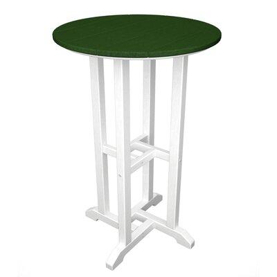 Contempo Bar Table Finish: White & Green