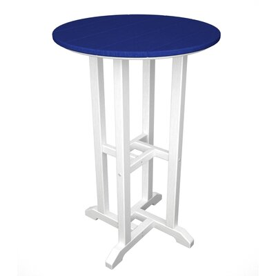 Contempo Bar Table Finish: White & Pacific Blue