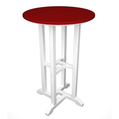 Contempo Bar Table Finish: White & Sunset Red