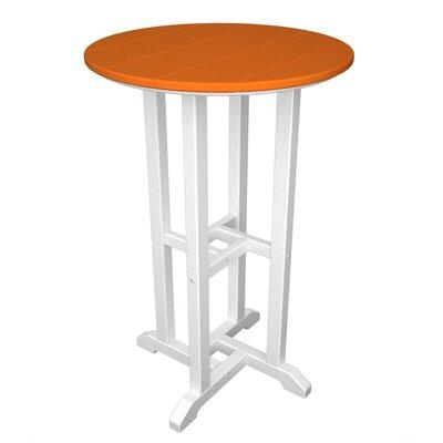 Contempo Bar Table Finish: White & Tangerine