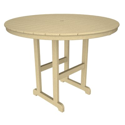 La Casa Caf� Bar Table Finish: Sand, Table Size: 48