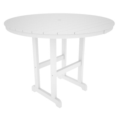 La Casa Caf� Bar Table Finish: White, Table Size: 48