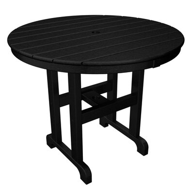 Round Dining Table Finish: Black, Table Size: 48