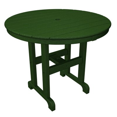 Round Dining Table Finish: Hunter Green, Table Size: 36