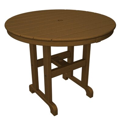 Round Dining Table Finish: Dark Teak, Table Top Size: 36