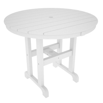 Round Dining Table Finish: White, Table Size: 36
