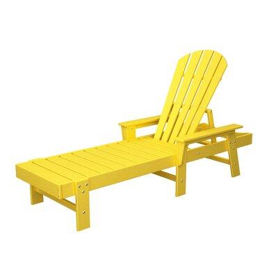 South Beach Chaise Lounge Finish: Lemon