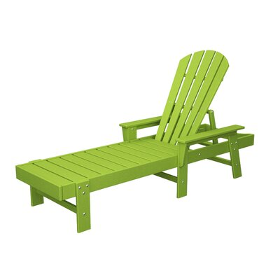 South Beach Chaise Lounge Finish: Lime