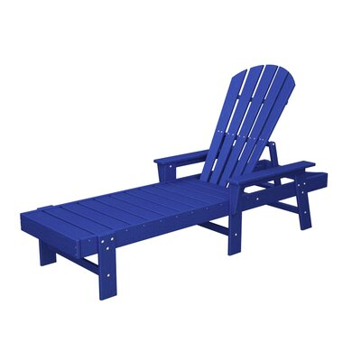 South Beach Chaise Lounge Finish: Pacific Blue