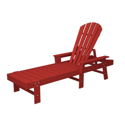 South Beach Chaise Lounge Finish: Sunset Red