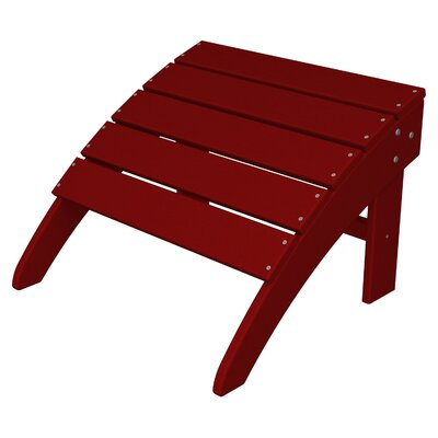 South Beach Adirondack Ottoman Finish: Sunset Red