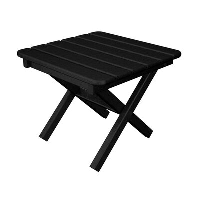 Square Side Table Table Size: 18, Finish: Slate Grey