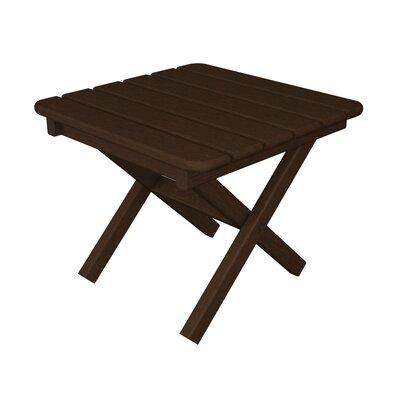 Square Side Table Finish: Mahogany, Table Size: 18
