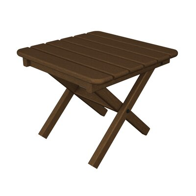 Square Side Table Finish: Teak, Table Top Size: 18