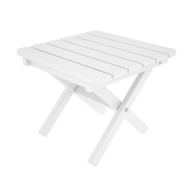 Square Side Table Finish: White, Table Size: 18