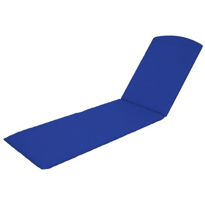 Nautical Outdoor Sunbrella Chaise Cushion in Canvas Pacific Blue