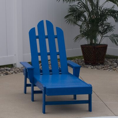 Long Island Chaise Lounge Finish: Pacific Blue
