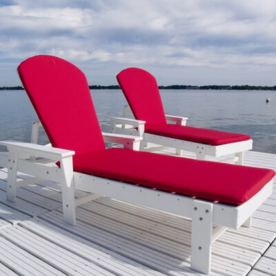 South Beach Chaise Lounge Finish: White