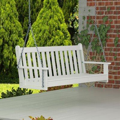 Vineyard Porch Swing Finish: White
