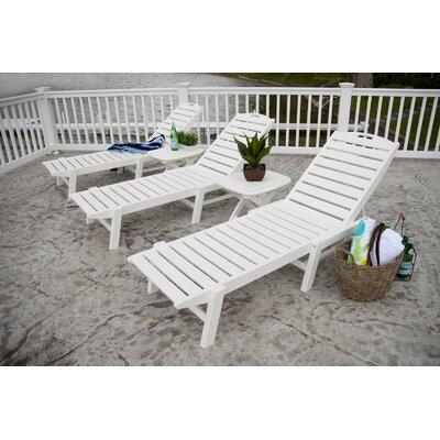 Polywood Nautical Wheel Chaise Lounge - Finish: White