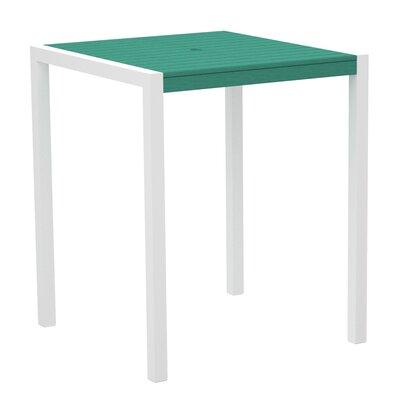 Mod Bar Table Top Finish: Aruba, Base Finish: Textured White