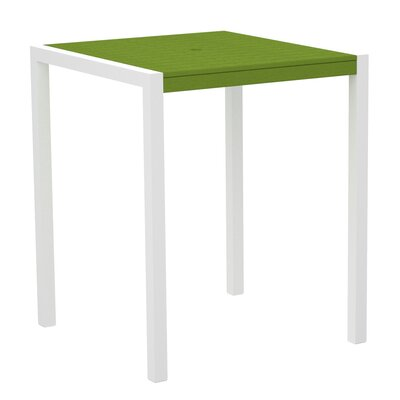 Mod Bar Table Top Finish: Lime, Base Finish: Textured White