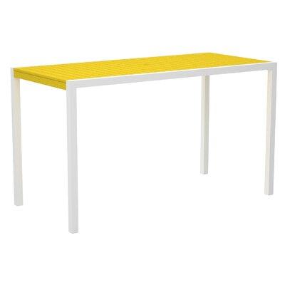 Mod Bar Table Top Finish: Lemon, Base Finish: Textured White