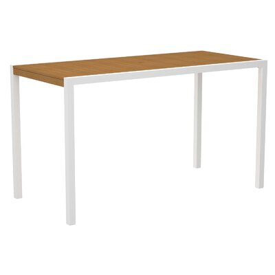 Mod Bar Table Top Finish: Plastique, Base Finish: Textured White