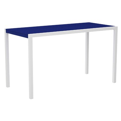 Mod Bar Table Top Finish: Pacific Blue, Base Finish: Textured White